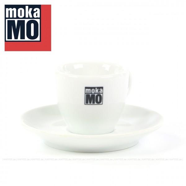 Farbe weiß mit mokaMO-Logo, 6 Tassen inkl. Untertasse pro VPE, EAN-Code: 0000000001786