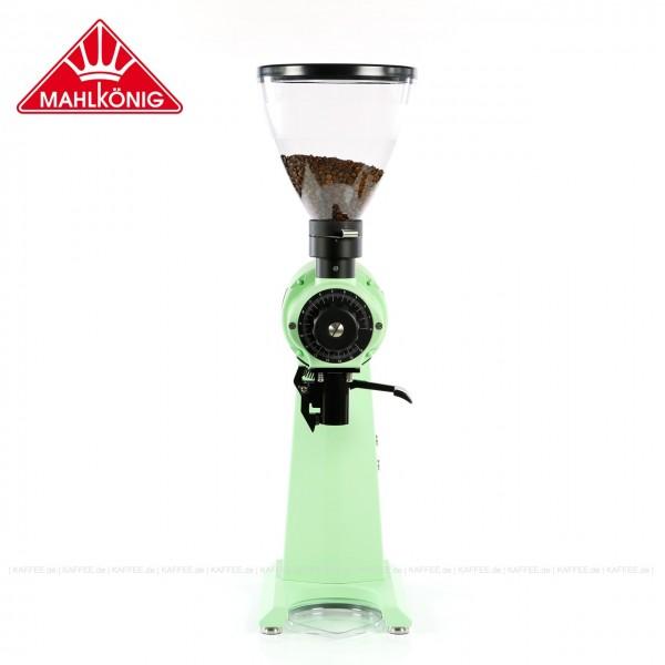 Kaffeemühle der Colorful Limited Edition Serie,  Farbe Pastel Green (RAL 6019), 83 cm hoch  mit einem Trichterinhalt von ca. 1.500 g, EAN-Code: 0000000002210 ## Weitergehende Informationen und technische Details finden Sie auch auf der Webseite des Herste