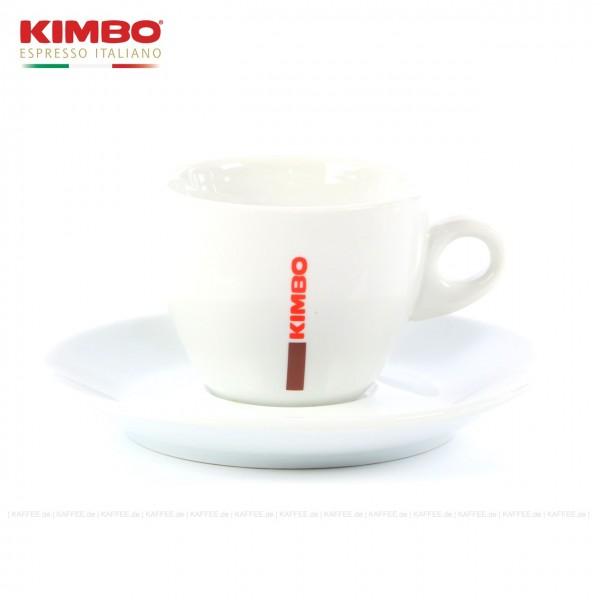 Farbe weiß mit KIMBO-Logo, 6 Tassen pro VPE, EAN-Code: 0000000001544