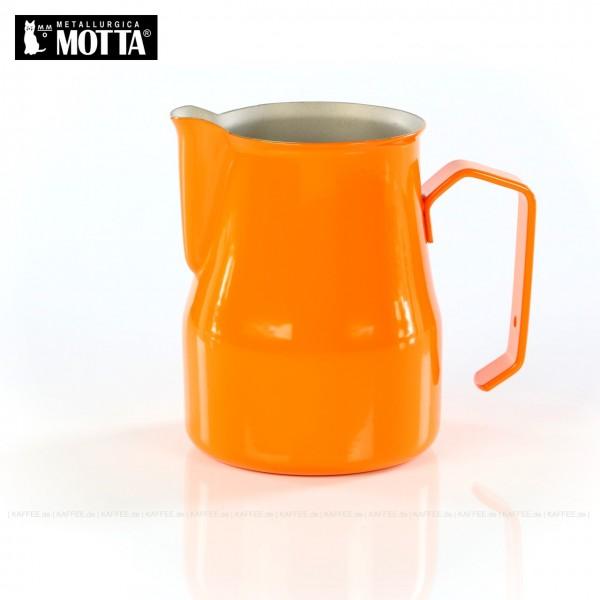 Milchkännchen aus Edelstahl (rostfrei), Füllmenge 350 ml, Farbe orange (außen), Gesamtinhalt 1 Stück pro VPE, EAN-Code: 8007986026354