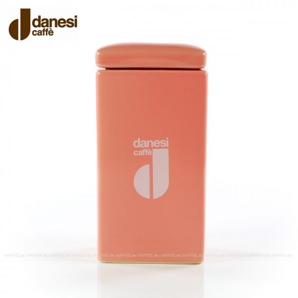 DANESI  Pot, Aufbewahrungsgefäß, farbig (pink) mit DANESI-Logo, zweiteilig - Gefäß mit Deckel, EAN-Code: 8000135818381