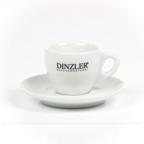 Farbe weiß mit Dinzler-Logo, 6 Tassen pro VPE, EAN-Code: