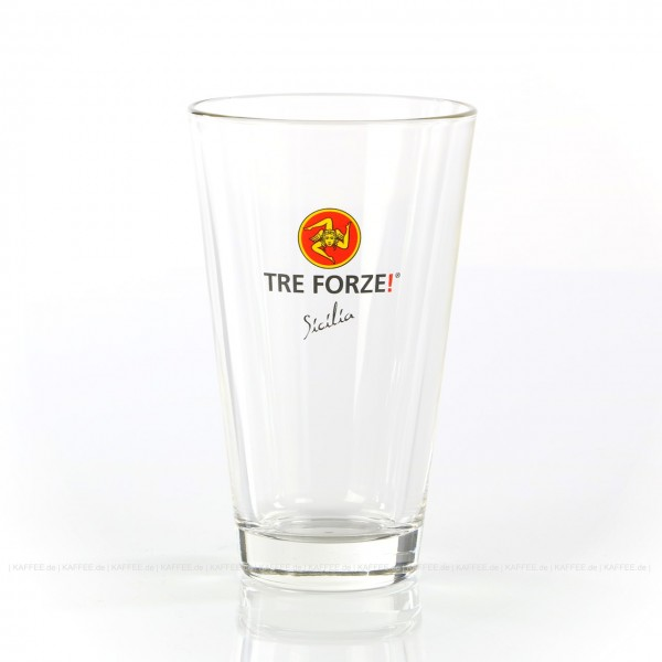 Glas mit Tre Forze!-Logo, 12 Gläser pro VPE, EAN-Code: 4260011861007