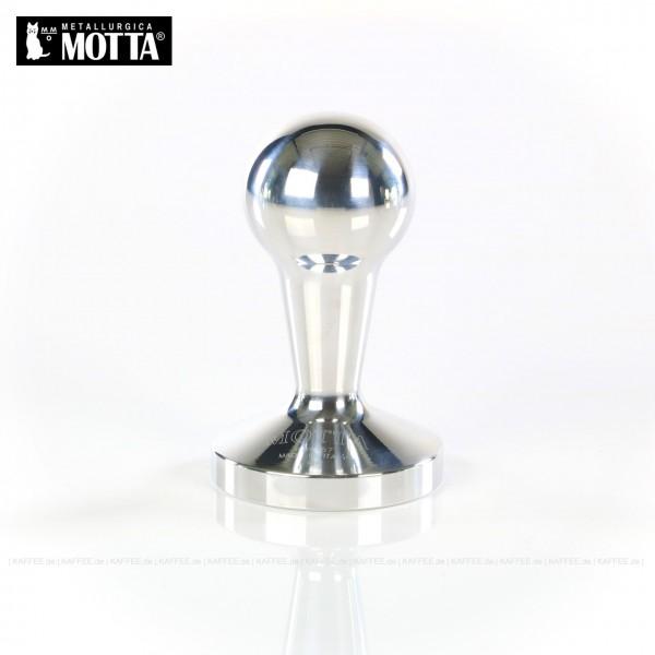 Tamper  aus Aluminium, Durchmesser 57 mm, Tamperunterseite flach, Griff austauschbar und abgerundet, Gesamtinhalt 1 Stück pro VPE, EAN-Code: 8007986066404