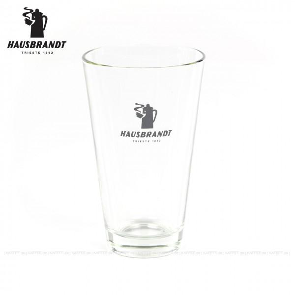 Glas mit Hausbrandt-Logo, 6 Gläser pro VPE, EAN-Code: 0000000001953