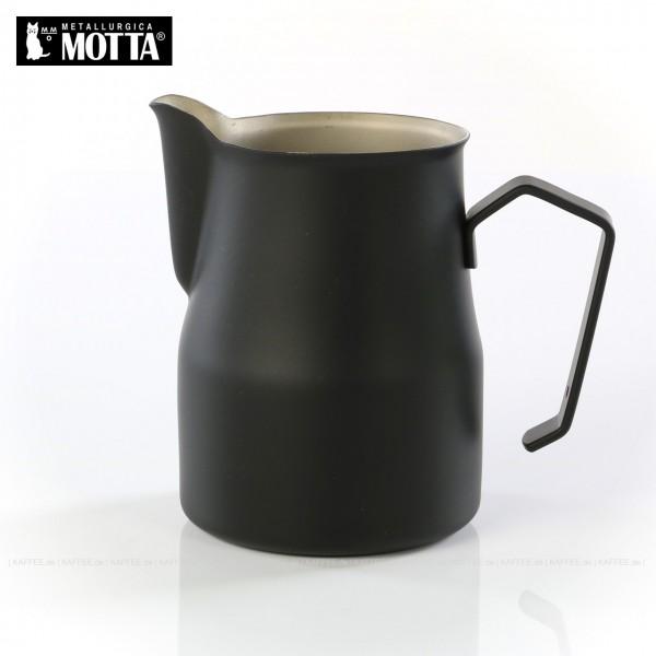 Milchkännchen aus Edelstahl (rostfrei), Füllmenge 750 ml, Farbe schwarz (außen), Gesamtinhalt 1 Stück pro VPE, EAN-Code: 8007986025753