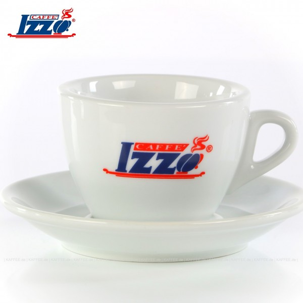 Farbe weiß mit Izzo-Logo, 6 Tassen pro VPE, EAN-Code: 8019925000905