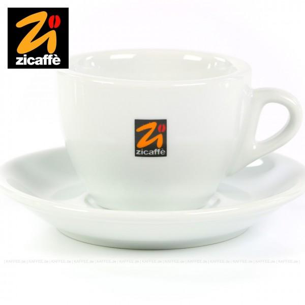 Farbe weiß mit Zicaffè-Logo, Modell Classic, 6 Tassen pro VPE, EAN-Code: 0000000001077