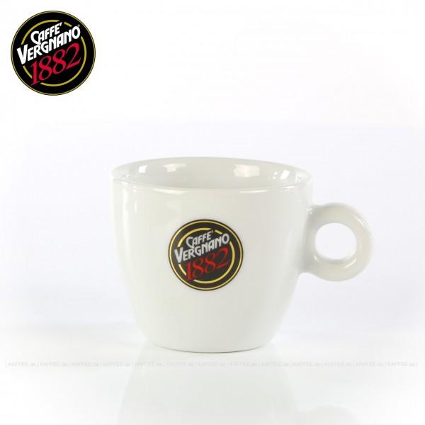 Farbe weiß mit Caffè Vergnano-Logo, ohne Untertasse, 6 Tassen pro VPE, EAN-Code: 0000000001615