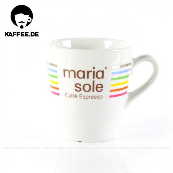 Farbe weiß mit MariaSole- & MilleSoli-Logo, 6 Tassen pro VPE, EAN-Code: 4260011866200