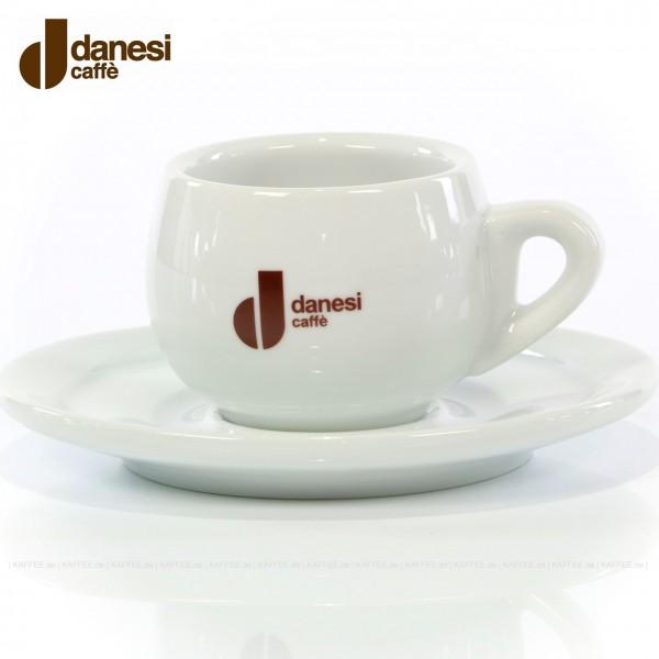 Farbe weiß mit Danesi-Logo, 6 Tassen pro VPE, EAN-Code: 8000135414248