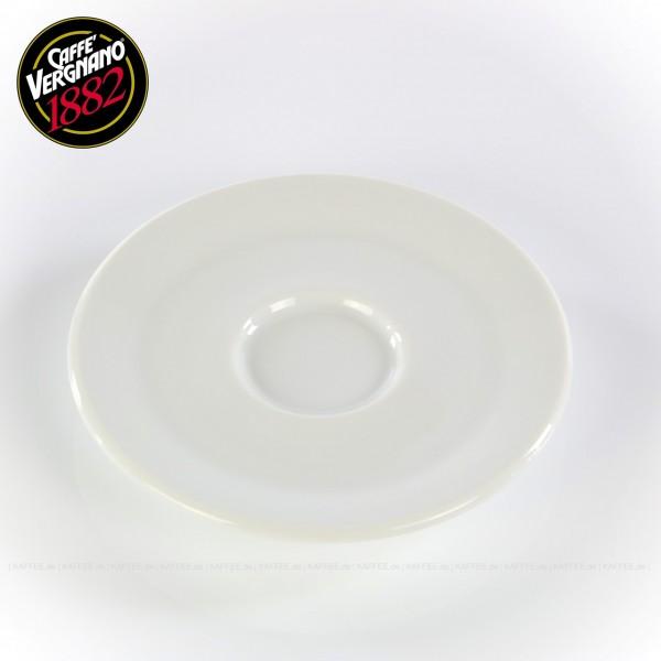 Farbe weiß, passend zur Caffè Vergnano Espressotasse (Artikel 1613), 6 Untertassen pro VPE, EAN-Code: 0000000001614