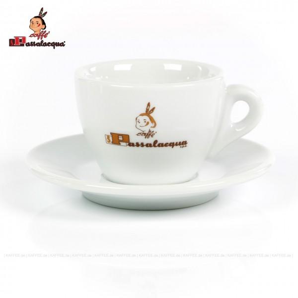 """Farbe weiß mit """"PASSALACQUA""""-Logo, 6 Tassen pro VPE, EAN-Code: 0000000001683"""