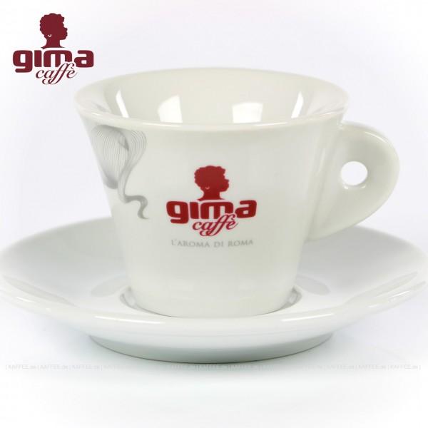 Farbe weiß mit GIMA Logo, 6 Tassen pro VPE, EAN-Code: 0000000002137