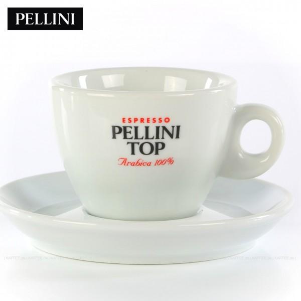 Farbe weiß mit Pellini-Top-Logo, 6 Tassen pro VPE, EAN-Code: 0000000001142