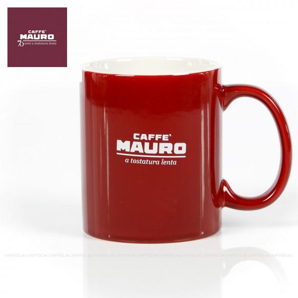Farbe weinrot mit CAFFÈ MAURO-Logo, 1 Tasse pro VPE, EAN-Code: 0000000001912