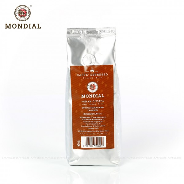 12 Bags je 250 g pro VPE, Bohne, Gesamtinhalt 3,00 kg pro VPE, EAN-Code: 8007888000650