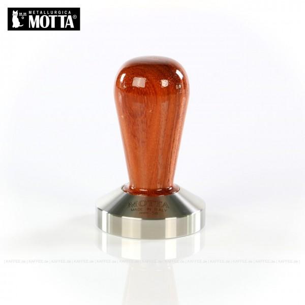 Tamper aus Edelstahl/Holz (Bubinga), Durchmesser 58 mm, Tamperunterseite flach, Griff austauschbar, Gesamtinhalt 1 Stück pro VPE, EAN-Code: 8007986011039