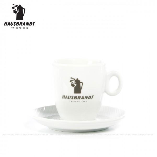 Farbe weiß mit Hausbrandt-Logo, 6 Tassen pro VPE, EAN-Code: 0000000002194
