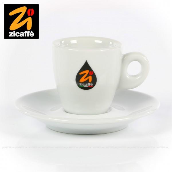 Farbe weiß mit Zicaffè-Logo, Modell Classic, 6 Tassen pro VPE, EAN-Code: 0000000002099