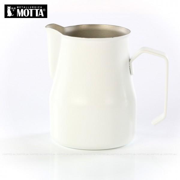 Milchkännchen aus Edelstahl (rostfrei), Füllmenge 500 ml, Farbe weiß (außen), Gesamtinhalt 1 Stück pro VPE, EAN-Code: 8007986024503