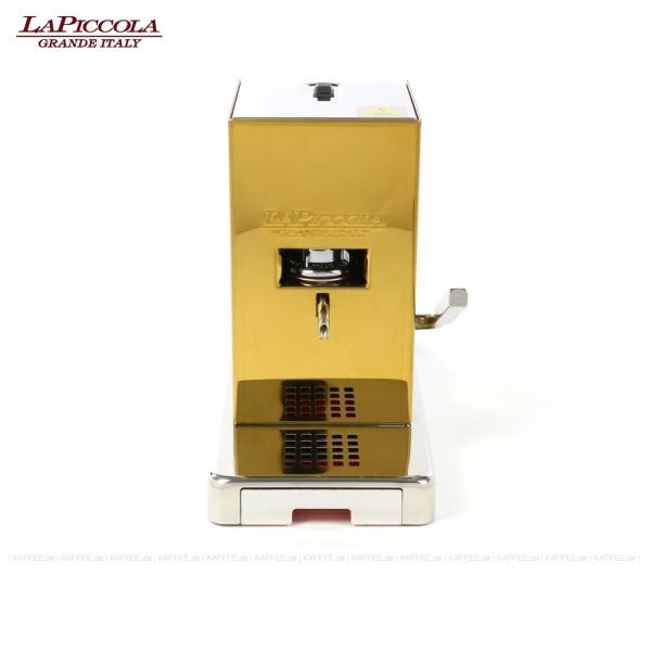 Espressomaschine für ESE-Pads (44 mm Standard-Pads), Edelstahlgehäuse in Gold-Optik, EAN-Code: 8021103700354