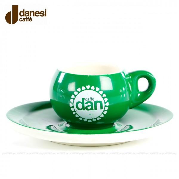 Farbe GRÜN mit Danesi-Logo, 6 Tassen pro VPE, EAN-Code: