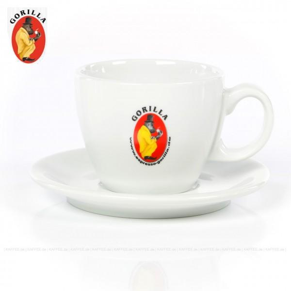 Farbe weiß mit Gorilla-Logo, 6 Tassen pro VPE, EAN-Code: 4039398130606