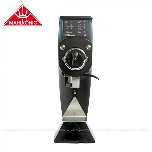 Kaffeemühle,  Farbe RAL9005 Tiefschwarz - matt Feinstruktur,  62 cm hoch  mit einem Trichterinhalt von ca. 900 g. Optimal für den Betrieb in Shops, Röstereien und im Labor geeignet. Artikelcodierung Mahlkönig: Gua VH110 BK4 H1 SA Q1 A2 F DE 33, EAN-Co