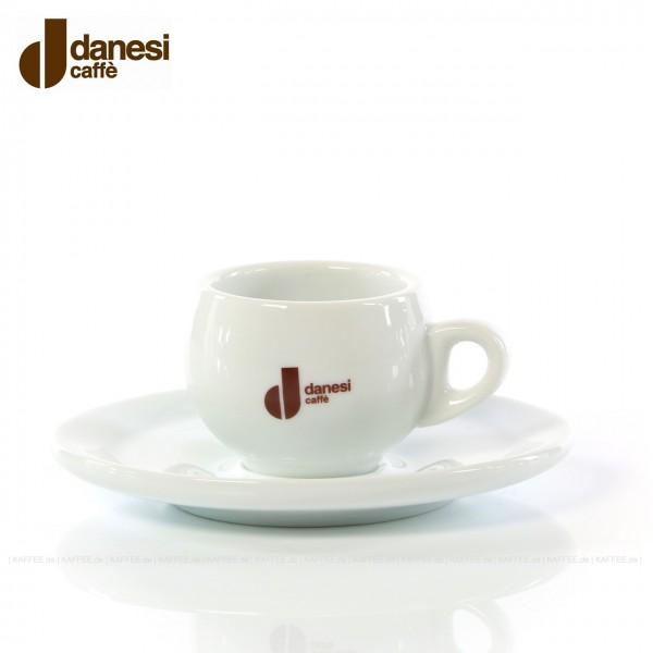 Farbe weiß mit Danesi-Logo, 6 Tassen pro VPE, EAN-Code: 8000135404041