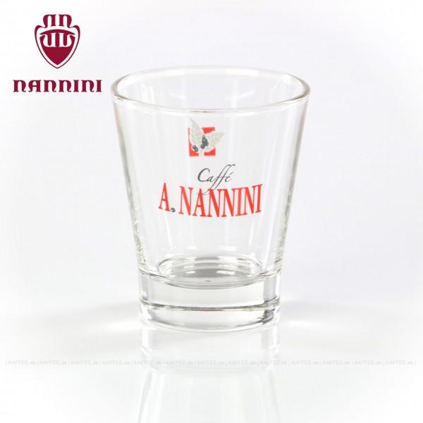 Glas mit Nannini-Logo, 6 Gläser pro VPE, EAN-Code: 8019247000195