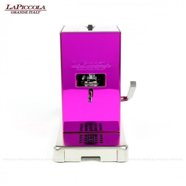 Espressomaschine für ESE-Pads (44 mm Standard-Pads), Edelstahlgehäuse in der Farbe Pink, EAN-Code: 0000000001706