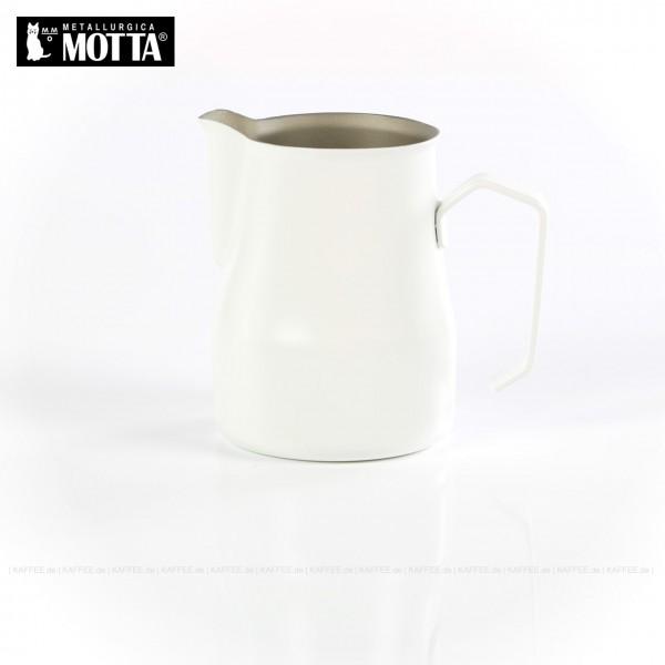 Milchkännchen aus Edelstahl (rostfrei), Füllmenge 350 ml, Farbe weiß (außen), Gesamtinhalt 1 Stück pro VPE, EAN-Code: 8007986024350