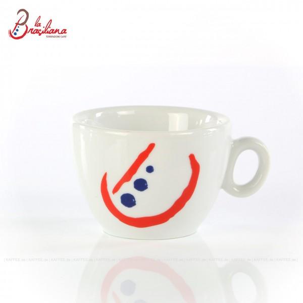 """Farbe weiß mit """"neuem"""" La Brasiliana-Logo, ohne Untertasse, 6 Tassen pro VPE, EAN-Code: 0000000001185"""