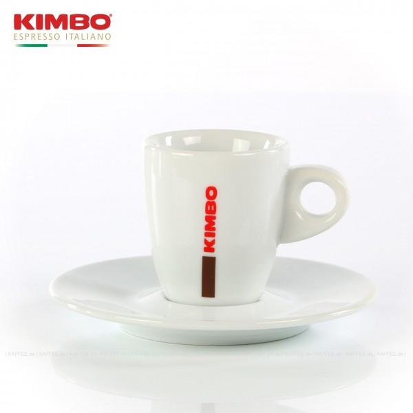 Farbe weiß mit KIMBO-Logo, 6 Tassen pro VPE, EAN-Code: 0000000001542