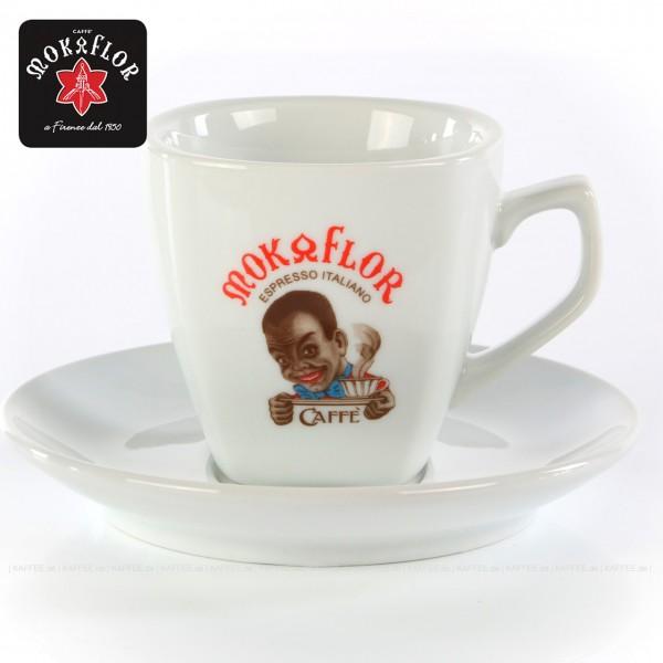 Farbe weiß mit Moretto-Logo, 6 Tassen pro VPE, EAN-Code: 8006987010140