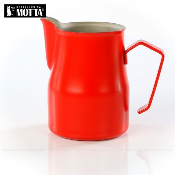 Milchkännchen aus Edelstahl (rostfrei), Füllmenge 750 ml, Farbe rot (außen), Gesamtinhalt 1 Stück pro VPE, EAN-Code: 8007986027757