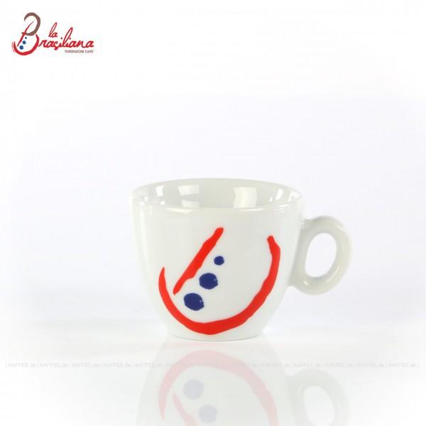 """Farbe weiß mit """"neuem"""" La Brasiliana-Logo, ohne Untertasse, 6 Tassen pro VPE, EAN-Code: 0000000001183"""