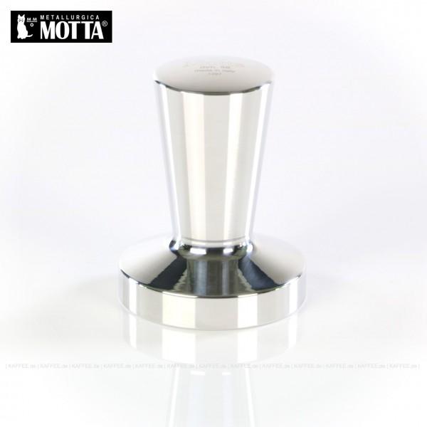 Tamper aus Metall (verchromt), Durchmesser 58 mm, Tamperunterseite flach, Griff oben flach, Gesamtinhalt 1 Stück pro VPE, EAN-Code: 8007986013637