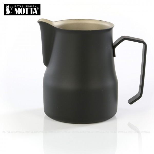 Milchkännchen aus Edelstahl (rostfrei), Füllmenge 500 ml, Farbe schwarz (außen), Gesamtinhalt 1 Stück pro VPE, EAN-Code: 8007986025500