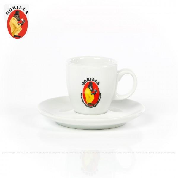Farbe weiß mit Gorilla-Logo, 6 Tassen pro VPE, EAN-Code: 4039398020891