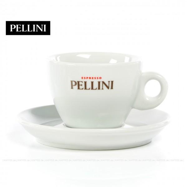 Farbe weiß mit Pellini-Logo, 6 Tassen pro VPE, EAN-Code: 0000000001144