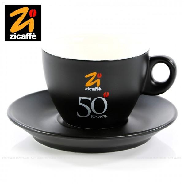 Farbe schwarz (matt) mit CINQUANTENARIO-Logo, 6 Tassen pro VPE, EAN-Code: 0000000001713