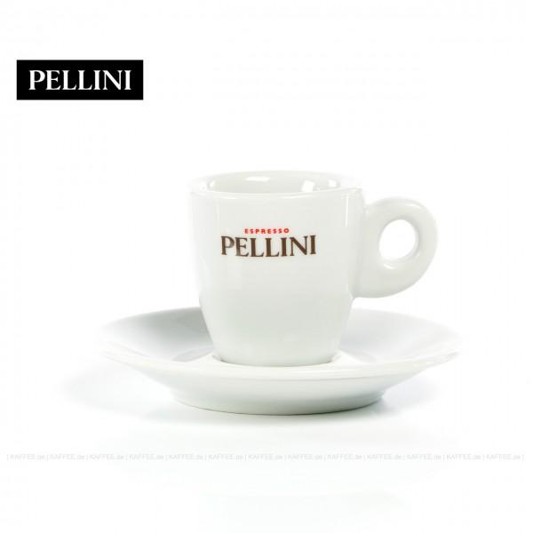 Farbe weiß mit Pellini-Logo, 6 Tassen pro VPE, EAN-Code: 0000000001143