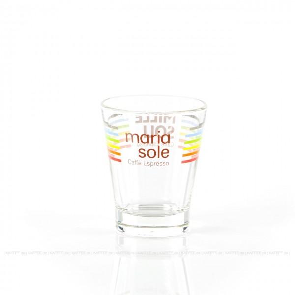 Glas bedruckt mit MariaSole- & MilleSoli-Logo, 6 Gläser pro VPE, EAN-Code: 4260011866101