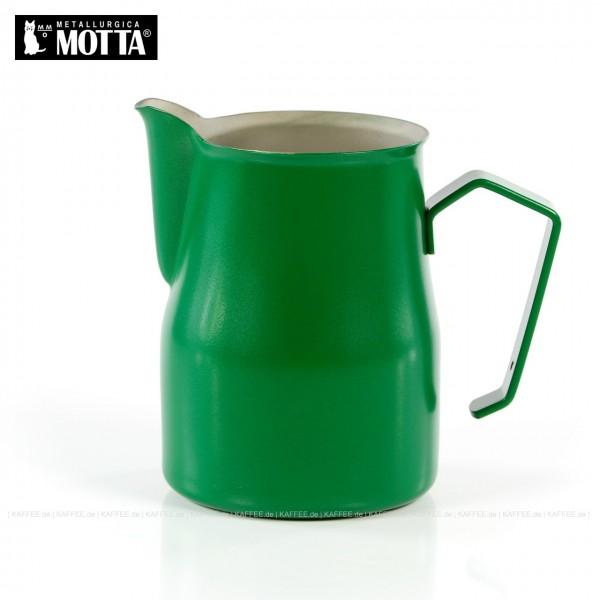 Milchkännchen aus Edelstahl (rostfrei), Füllmenge 750 ml, Farbe grün (außen), Gesamtinhalt 1 Stück pro VPE, EAN-Code: 8007986028754