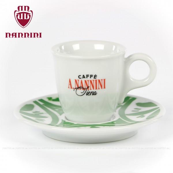 Farbe weiß mit Nannini-Logo, 6 Tassen pro VPE, EAN-Code: 8019247000300