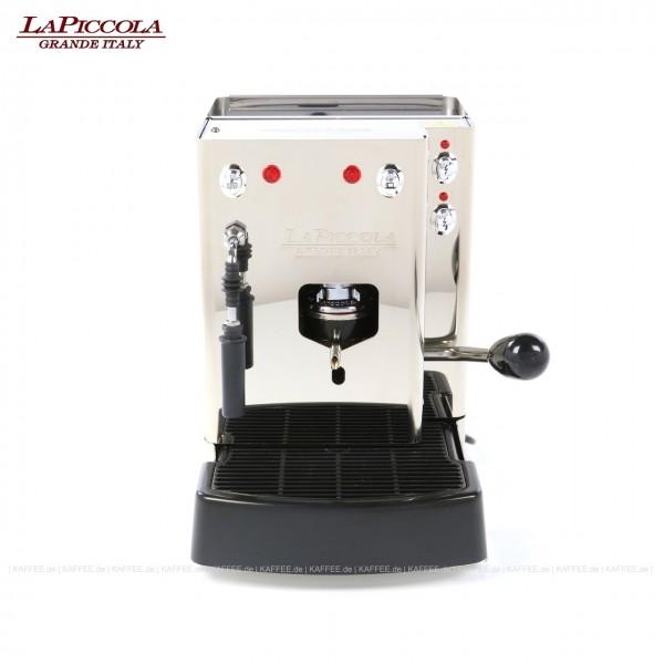 Espressomaschine für ESE-Pads (normal) mit Milchaufschäumer, Edelstahl mit Seitenteilen ebenfalls in Edelstahl, EAN-Code: 0000000001301