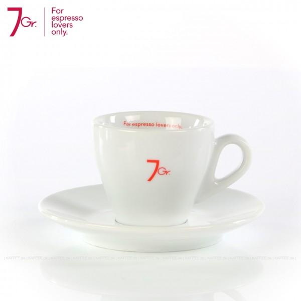 Farbe weiß mit rotem 7 Gr.-Logo, 6 Tassen pro VPE, EAN-Code: 8034013280137