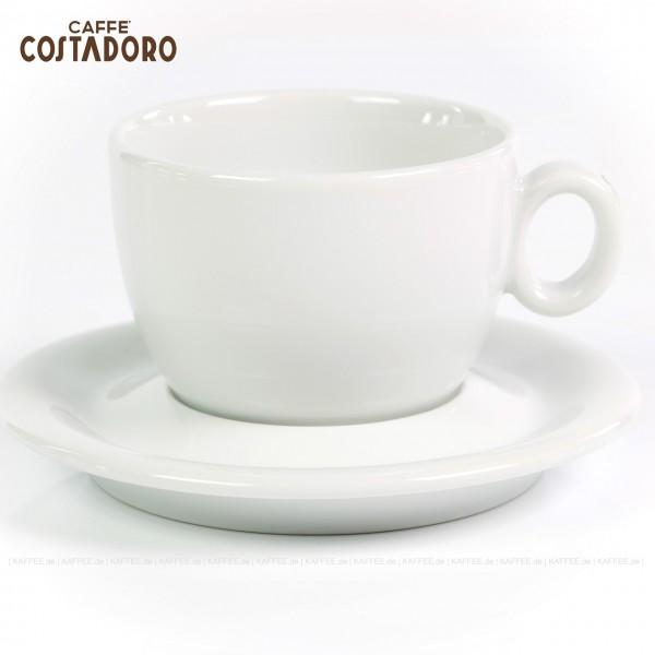 Farbe weiß mit Costadoro-Logo, 6 Tassen pro VPE, EAN-Code: 0000000002069